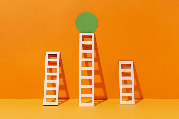 Laddersopstelling met cirkel
