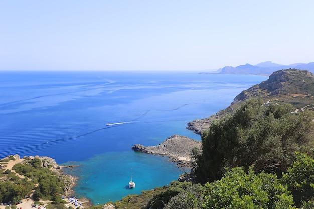 Ladiko bay, rhodos, griekenland