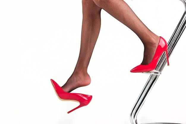 Lady's benen op hoge hakken.