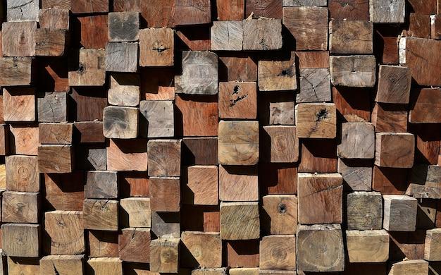Lagen van houten plankmuur