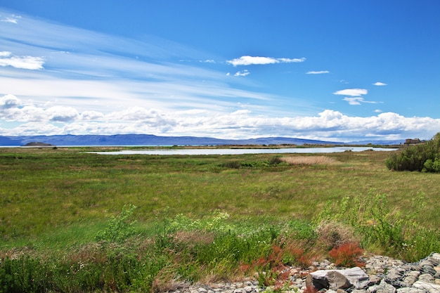 Laguna nimez reserva in el calafate, patagonië, argentinië
