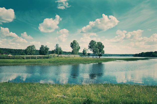 Lake kenozero arkhangelsk regio, rusland