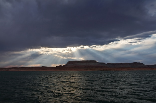 Lake powell in arizona, paige, verenigde staten