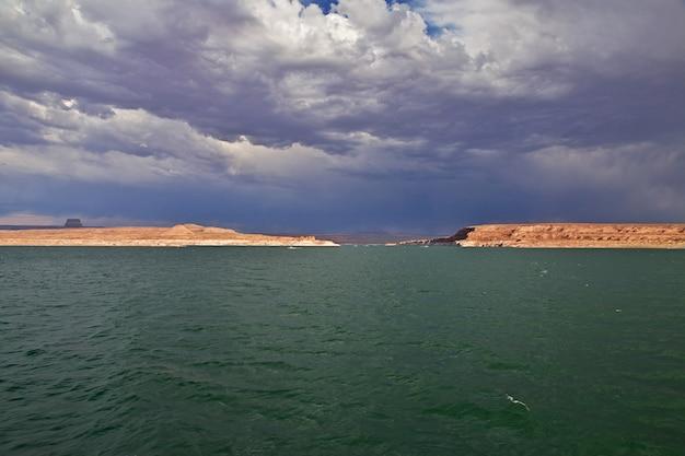 Lake powell in arizona, paige, verenigde staten