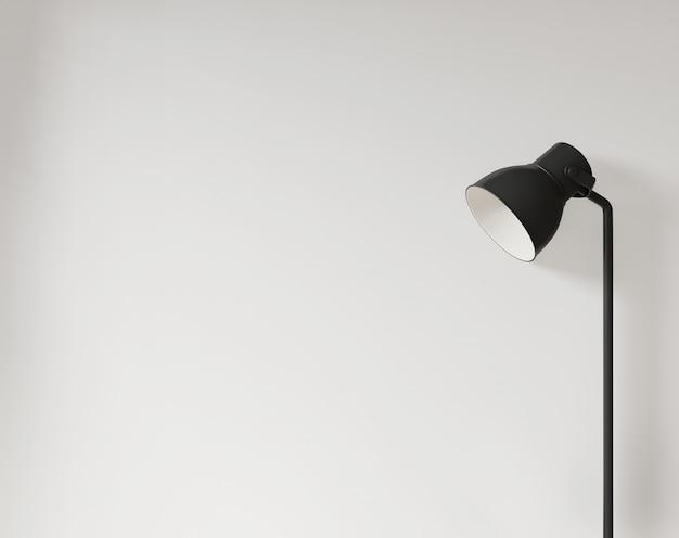Lamp en lege witte muur