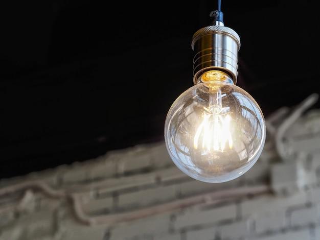 Lamp licht op. detailopname.