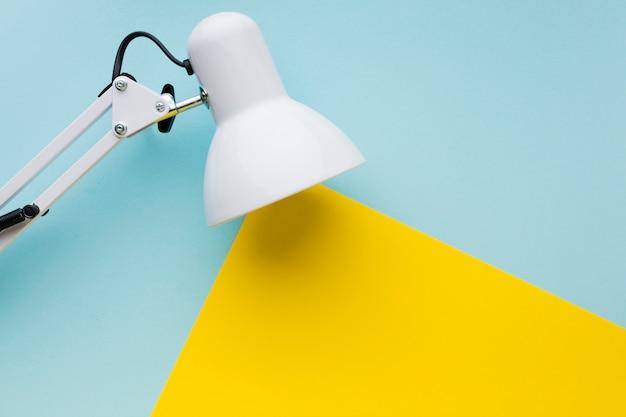 Lamp met licht concept bovenaanzicht