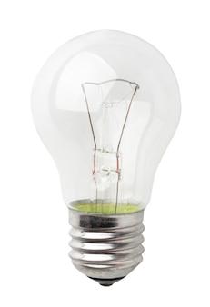 Lamp op wit, close-up. geïsoleerd