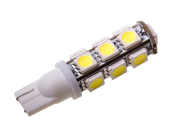 Lamp voor auto met 13 smd led's geïsoleerd op de witte achtergrond