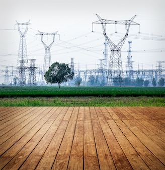 Land huidige industriële aarde levendig