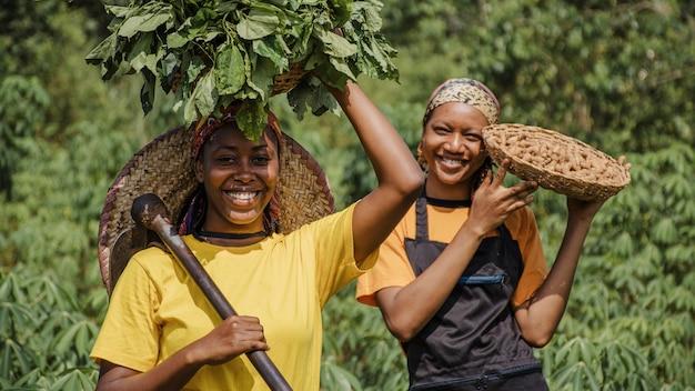 Landarbeiders in het veld