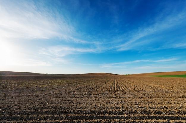Landbouwgebied in de herfst.