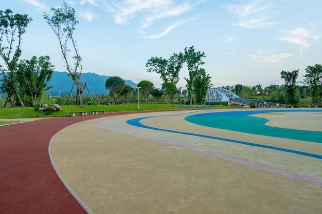 Landelijk central park, natuurlijk landschap, tongliang district