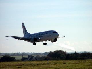 Landing boeing luchtvaartmaatschappij