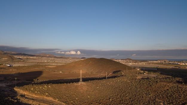 Landschap en zeegezicht van de drone, eiland tenerife tenerife