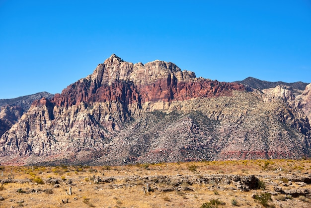 Landschap in red rock canyon, nevada, verenigde staten