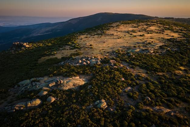 Landschap in sierra de tormantos in de buurt van piornal. extremadura.