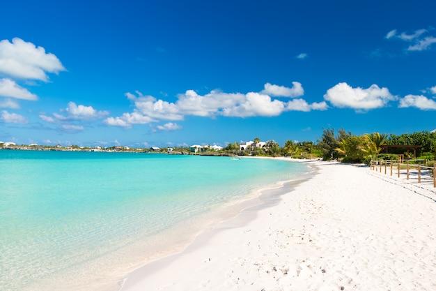 Landschap op het caribische tropische eiland