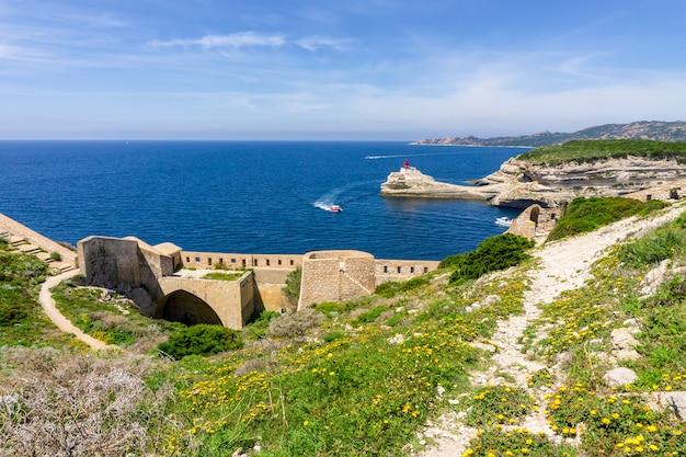 Landschap op het eiland van corsica in frankrijk