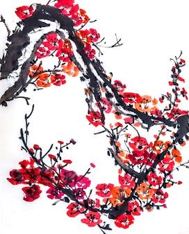 Landschap schoonheid roze plantkunde japanse artistieke