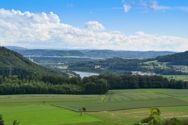 Landschap uit habsburg, zwitserland