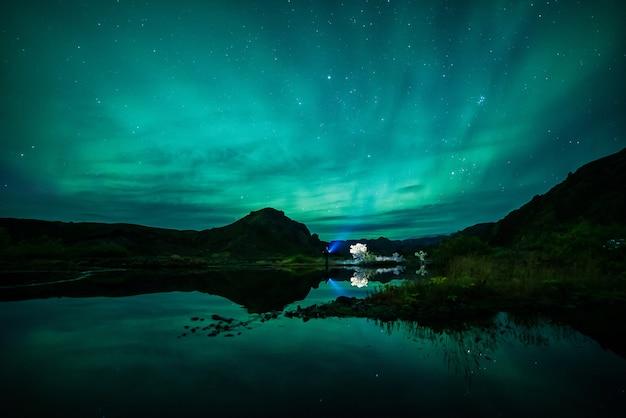 Landschap van aurora Gratis Foto
