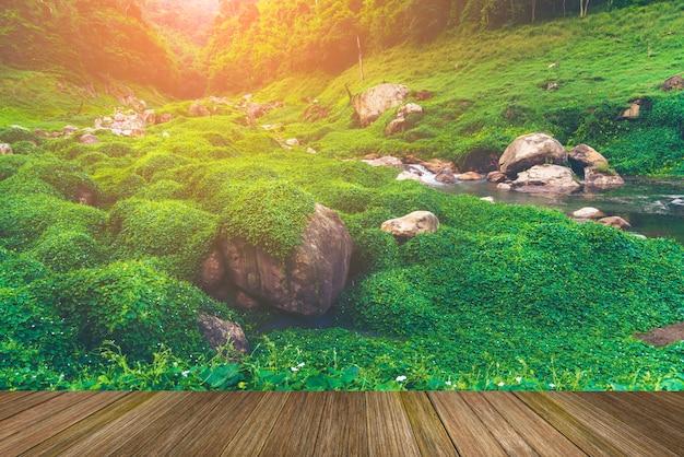 Landschap van de natuurlijke plaats van de werelderfenis, khao yai, thailand