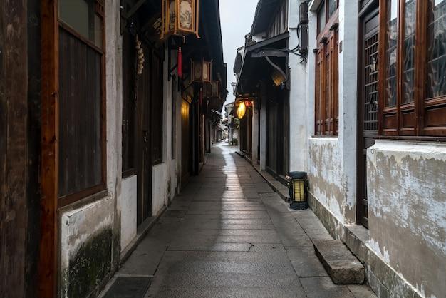 Landschap van de oude stad zhouzhuang, suzhou, china
