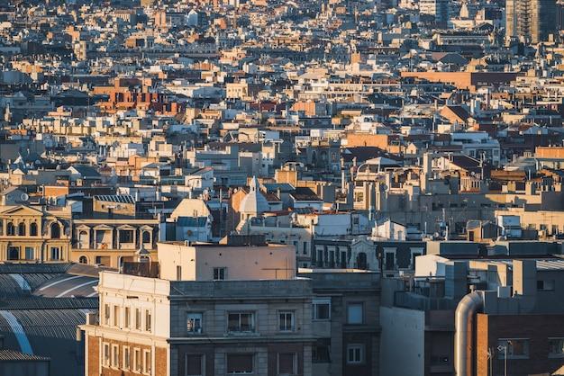 Landschap van de stadsgebouwen van barcelona