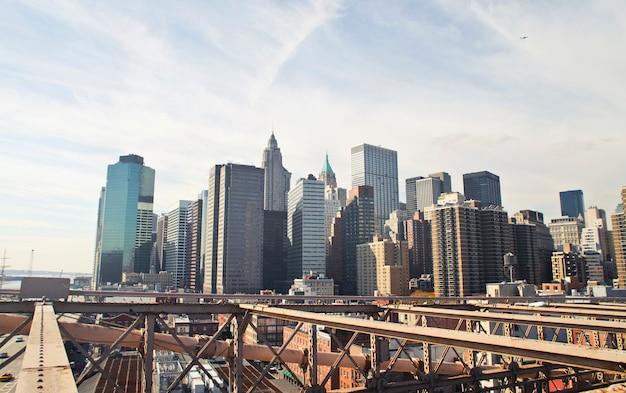Landschap van een uitzicht op de grote stad