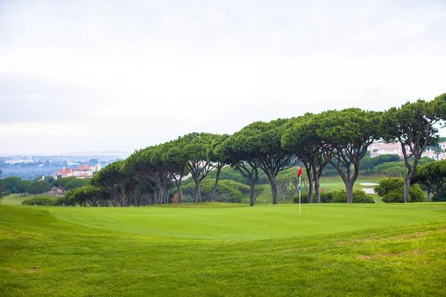 Landschap van golfveld