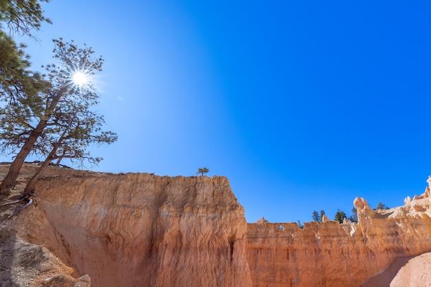 Landschap van het schilderachtige bryce canyon national park. utah, vs