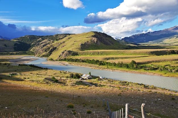 Landschap van patagonië, argenina
