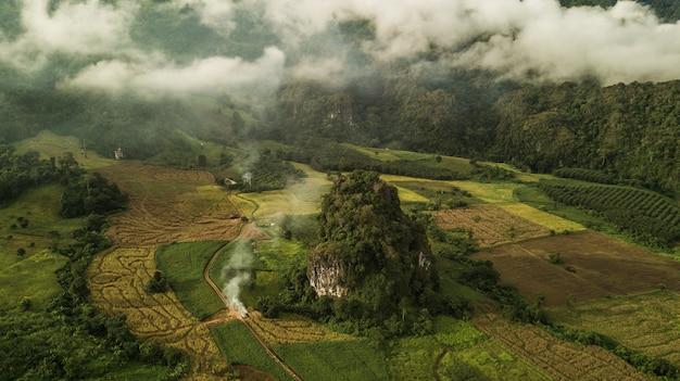Landschap van phu lanka-berg bospark in phayao-provincie thailand.
