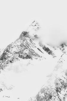 Landschap van snow cappedmountain