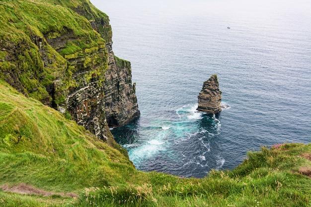 Landschappen van ierland. kliffen van moher