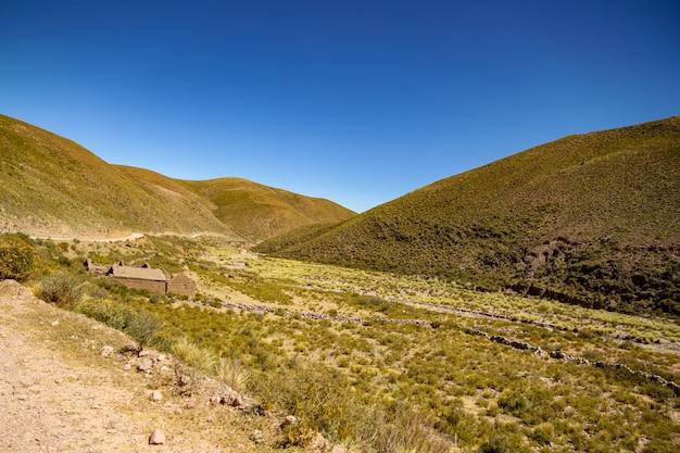 Landschapsmening van jujuy, argentinië