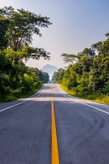 Landweg in de ochtend