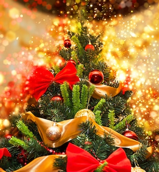 Lange kerstboom met glans