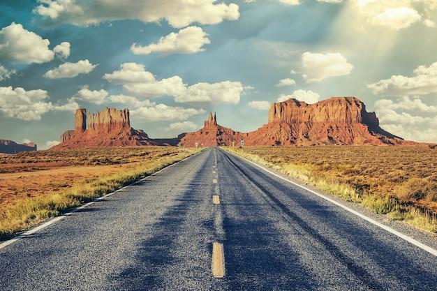 Lange weg naar monument valley, vs.