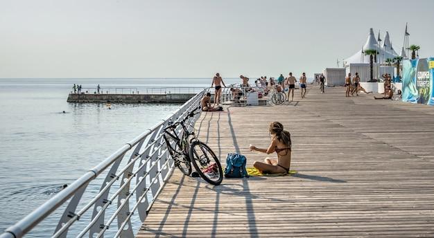 Langeron beach in odessa, oekraïne