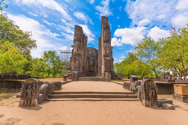 Lankathilaka oude ruïnes in polonnaruwa sri lanka