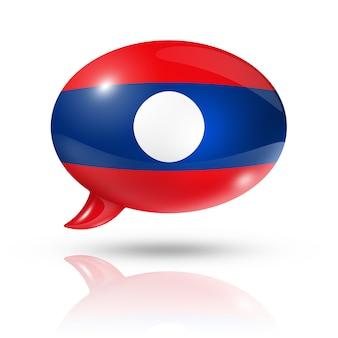 Laotiaanse vlag tekstballon