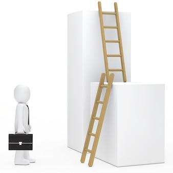 Lappenpop op zoek ladders