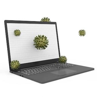 Laptop beveiligings- en beschermingsconcept