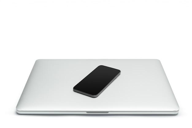 Laptop geïsoleerd