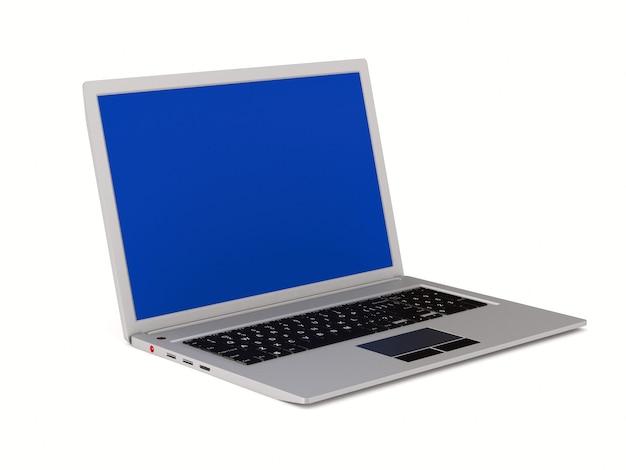 Laptop. geïsoleerde 3d-weergave
