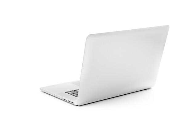 Laptop grijs metallic zilverkleur notitieboekje