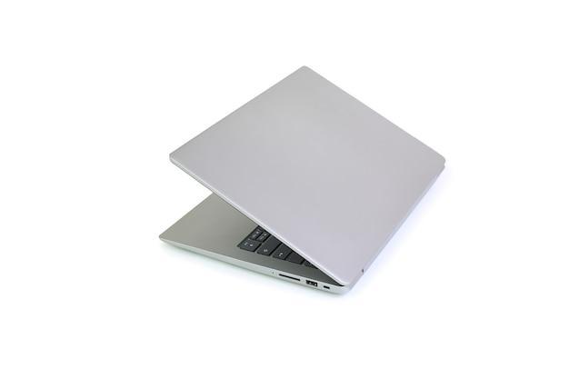 Laptop met vouwscherm op wit