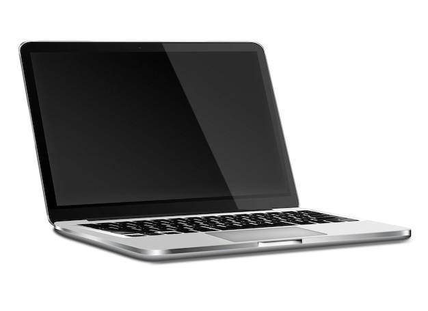 Laptop met zwart scherm.